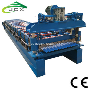 Korrugerad Metal Sheet Automatisk Tile Making Machine
